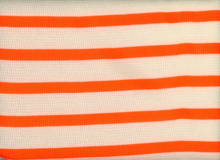 Thermal Knit Stripe Neon Orange