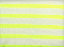 Thermal Knit Stripe Neon Yellow