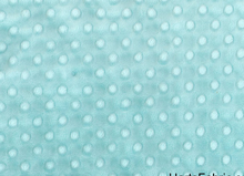 Tiffany Blue Minky Dot Fabric