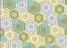 SALE Tile Reflection Geometric Fabric Butter
