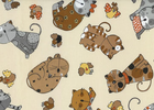 Timeless Treasures Fabric Calico Kitty Cats Cream