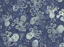 Timeless Treasures Octopus Batik Cotton Cadet