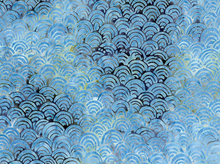 Timeless Treasures Scallops Batik Pacific