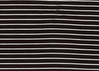 Tiny Stripe Bamboo Knit Fabric Black