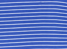 Tiny Stripe Bamboo Knit Fabric Blue
