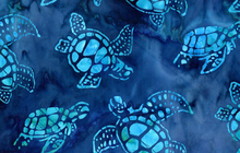 Totally Tropical Sea Turtle Batik Blue