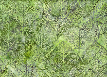 Trees Cotton Batik Spinach Green