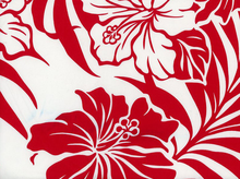 Tropical Floral Rayon Red