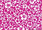 Tropical Hawaiian Floral Cotton Fuchsia