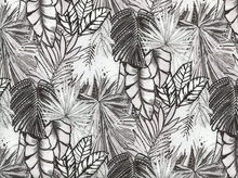 Tropical Rayon Voile Black and White