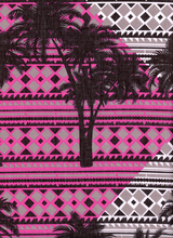 Tropical Sunset Voile Cotton Black