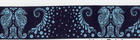 Tula Pink Sea Horses Ribbon Navy