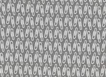 Type Paper Clips Cotton Grey