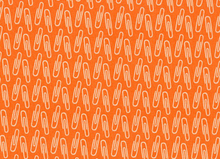 Type Paper Clips Cotton Orange
