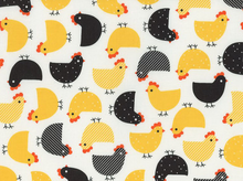 Urban Zoologie Chickens Laminated Cotton