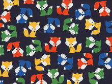 Urban Zoologie Foxes Laminated Cotton Navy