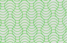 Wavy Line Fabric Green by Rashida Hale
