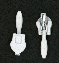 White Metal Invisible Zipper Pull #4