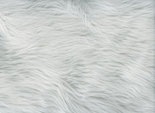 White Shag Faux Fur Fabric
