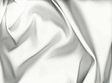 White Tahari Satin Fabric