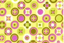 SALE Wildwood Fabric Gold Buttons Dots by Erin McMorris