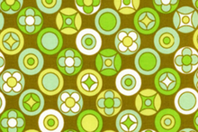 Wildwood Fabric Olive Buttons Dots by Erin McMorris