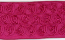 Wired Ribbon Fuschia Rosettes