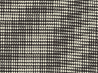 Wool Blend Houndstooth Black and White