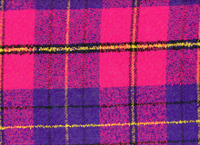 Wool Boucle Plaid Magenta