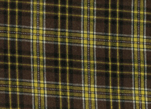 Wool Coating Plaid Brown
