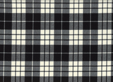 Wool Suiting Plaid Black