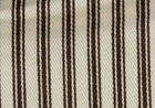 Woven Cotton Ticking Fabric Brown on Natural