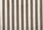 Woven Cotton Ticking Fabric Brown on White