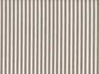 Woven Cotton Ticking Brown on White