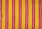 Woven Cotton Ticking Fabric Red on Yellow
