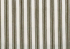 Woven Cotton Ticking Fabric Walnut and Natural