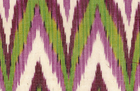 Woven Ikat Purple and Green