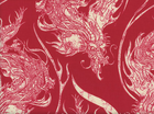 Year of the Ninja Dragons Cotton Red