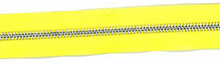 Yellow and Aluminum #5 Zipper by the Yard