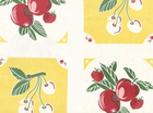 Yellow Cherries Moda Toweling Fabric