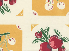 Granny's Fruit Pie Toweling Fabric Yellow