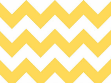 Yellow Chevron Stripe Cotton Fabric