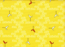 Zaza Birds Cotton Yellow