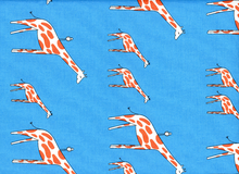 Zaza Giraffe Cotton Blue