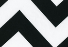 Zippy Chevron 7oz Cotton Canvas Black