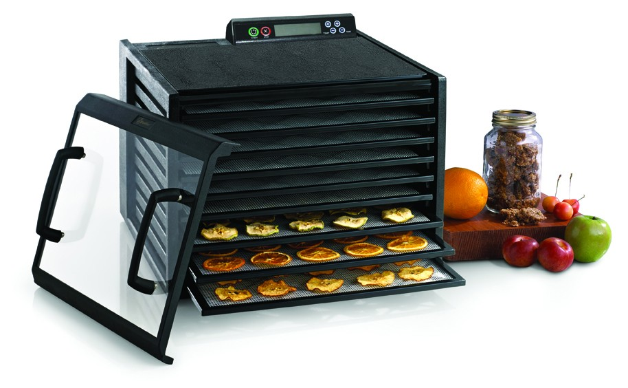 Everything Kitchens carries food dehydrators from The Sausage Maker (TSM), Excalibur, Nesco-American Harvest, and more. Models are available with top-mounted fans, bottom-mounted fans, and rear-mounted fans, in either stainless-steel or durable polymers. Dehydrator accessories range from expandable trays to jerky spices.