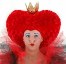 Alice in Wonderland Red Queen Headpiece with Crown
