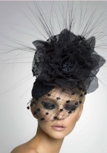 Arturo Rios' Annabelle Black Cocktail Hat