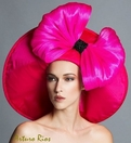 Arturo Rios' Hannah, Hot Pink Derby Hat