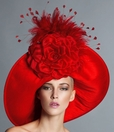 Barbara, Red Derby Hat by Arturo Rios